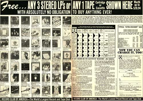 [This record ad pitches 8-track tapes]